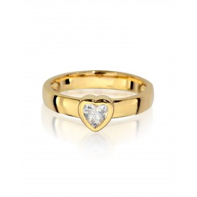 Stack It One Heart - Gold Plated